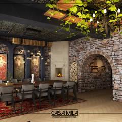 VENKA Yapı – Sedef Restoran:  tarz Duvarlar, Modern
