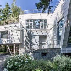 Projekty,  Dom rustykalny zaprojektowane przez Роман Леонидов - Архитектурное бюро