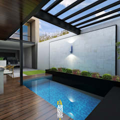 Garden Pool by FA Arquitectos,