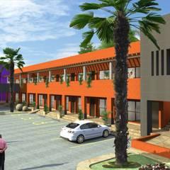 Hoteles de estilo  por Ramírez Pons Arquitectos,