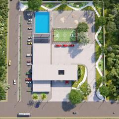 Rock Garden by Basal Arquitectos, Minimalist Concrete