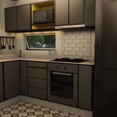 Proyecto Charcas: Cocinas pequeñas de estilo  por Tumburus Lucas - Diseño y Arquitectura Interior,Moderno Madera Acabado en madera