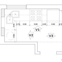 Proyecto Charcas: Cocinas pequeñas de estilo  por Tumburus Lucas - Diseño y Arquitectura Interior,Moderno Derivados de madera Transparente