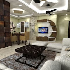Sector 75 Noida:  Living room by Saraswati Interior,Classic