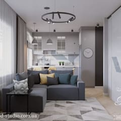 وحدات مطبخ تنفيذ Студия дизайна интерьера и архитектуры 'КПД