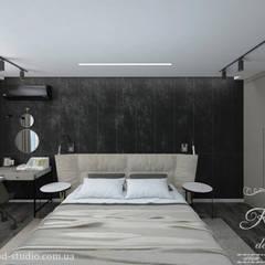 Дизайн интерьера квартиры для холостяка: Маленькие спальни в . Автор – Студия дизайна интерьера и архитектуры 'КПД,