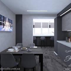 Kitchen units by Студия дизайна интерьера и архитектуры 'КПД,