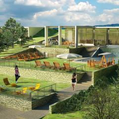 Modern dugout house:  Eengezinswoning door The Mo Studio,