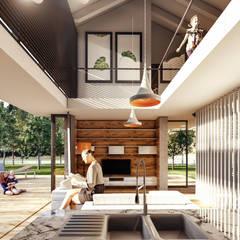 Lot Studıo Mimarlık – SM Evi - Marmaris:  tarz Oturma Odası,