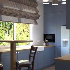 3-к квартира, 5-я Дачная, г.Саратов: Кухонные блоки в . Автор – Molyako Design,