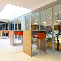 Lerarenkamer basisschool Moderne scholen van Studio Lime Modern