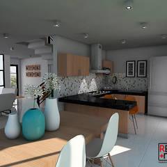 Casa ZEN - QRO: Cocinas equipadas de estilo  por REA + m3 Taller de Arquitectura