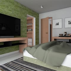Casa ZEN - QRO: Recámaras de estilo  por REA + m3 Taller de Arquitectura,