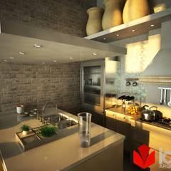 Proyecto Departamento coloniales: Cocinas de estilo  por IAM Arquitectos, Colonial