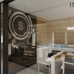 INPARC İç Mimari Proje Uygulama – ŞAHİN TELEKOM:  tarz Ofis Alanları,