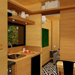 Cocinas pequeñas de estilo  por Giselle Wanderley arquitetura