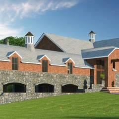 :  Bungalow by JMSD Consultant - 3D Architectural Visualization Studio, Modern Tiles