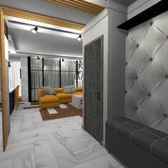 Industrial corridor, hallway & stairs by Студия дизайна Фрейя Industrial