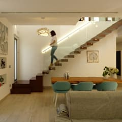 Stairs by Gestionarq, arquitectos en Xàtiva, Modern Wood Wood effect