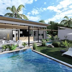 HePe Design interiors – Eco Villa:  tarz Havuz,