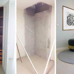 Serviços de Remodelações e Design de Interiores: Paredes  por Roof ,Moderno
