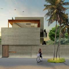 Terrace house by Habitual Taller de Arquitectura,