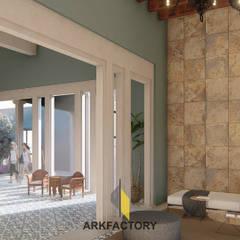Club Residencial: Pasillos y recibidores de estilo  por ARKFACTORY, Ecléctico