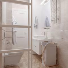 1-к квартира в ЖК Ямайка: Ванные комнаты в . Автор – Molyako Design, Модерн