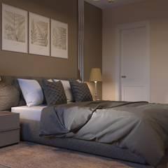 1-к квартира в ЖК Ямайка: Маленькие спальни в . Автор – Molyako Design,