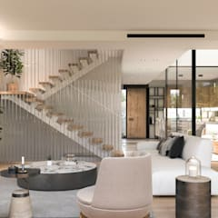 Mat atölye – Misty Green Modern Villas:  tarz Oturma Odası,