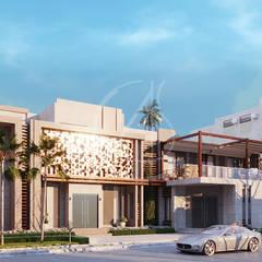Modern Facade Design:  Villas by Comelite Architecture, Structure and Interior Design , Modern