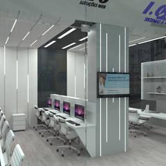 Pixelvivo - I.C.M.C: Lojas e imóveis comerciais  por Atilo's Arquitetura,