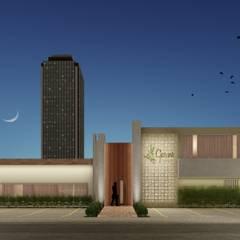 Oficina Garni - Restaurante: Espaços gastronômicos  por Atilo's Arquitetura,