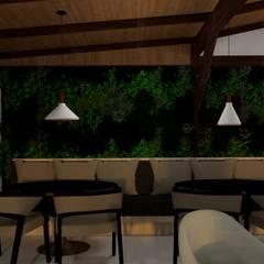 Vườn theo Bruna Schumacher - Arquitetura & Interiores , Mộc mạc Gỗ Wood effect