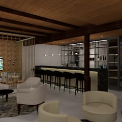 Restaurante Casa do Chico Adegas rústicas por Bruna Schumacher - Arquitetura & Interiores Rústico Madeira maciça Multi colorido