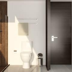 Casa LTPA: Baños de estilo  por Punto 15 Arquitectura, Rústico