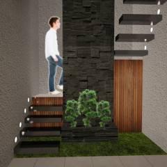 Proyecto Diseño y Decoración de Interiores Casa Habitación Pirámide Ecatepec: Escaleras de estilo  por Arquitectura y Aires de Mexico