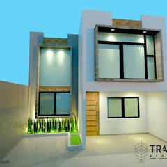 CASA MATAMOROS: Casas unifamiliares de estilo  por TRASSO ATELIER