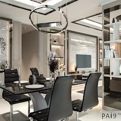 Project : Perfect Park - Ratchapruek:  ห้องทานข้าว by PAI9 Interior Design Studio