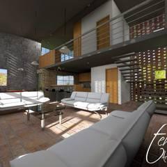 Salas / recibidores de estilo  por TEHUarquitecto, Rústico