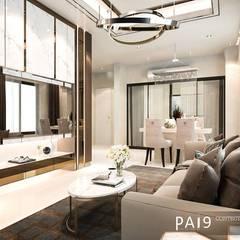 Project : Perfect Place 4 – Ratchapruek:  ห้องนั่งเล่น โดย PAI9 Interior Design Studio, โมเดิร์น