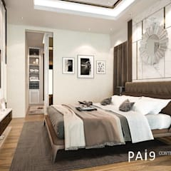 Small bedroom توسطPAI9 Interior Design Studio, مدرن