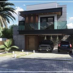 Juan Jurado Arquitetura & Engenharia:  tarz Bitişik ev,