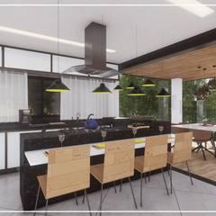 根據 Juan Jurado Arquitetura & Engenharia 田園風 木頭 Wood effect