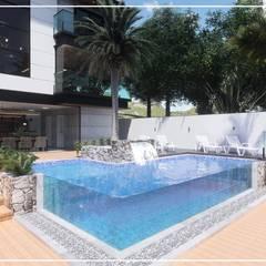 مسبح لانهائي تنفيذ Juan Jurado Arquitetura & Engenharia,