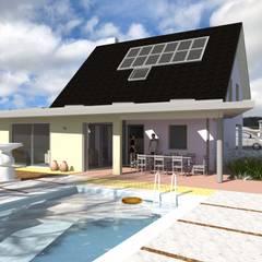 extension d'une maison par une nouvelle salle de séjour: Jardin de style  par A.FUKE-PRIGENT ARCHITECTE, Moderne