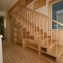 Stairs by SO建築設計一級建築士事務所, Eclectic لکڑی Wood effect