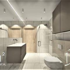 Łazienka w obiekcie hotelowym nad morzem: styl , w kategorii Łazienka zaprojektowany przez Wkwadrat Architekt Wnętrz Toruń,