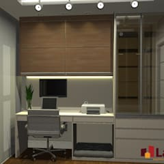 Ruang Kerja oleh LAM Arquitetura   Interiores, Modern