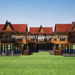 Wooden houses by รับเขียนแบบบ้าน&ออกแบบบ้าน